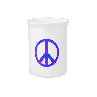 Blaues/lila abstraktes Friedenssymbol Getränke Krüge