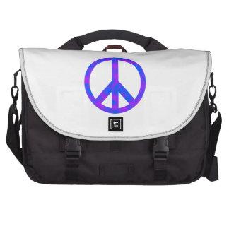 Blaues/lila abstraktes Friedenssymbol Laptoptasche