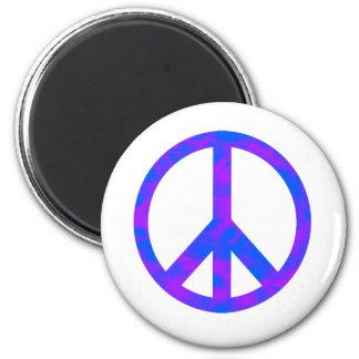 Blaues lila abstraktes Friedenssymbol Magnete