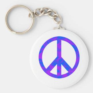 Blaues lila abstraktes Friedenssymbol