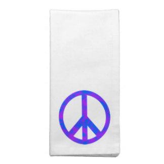 Blaues/lila abstraktes Friedenssymbol Bedruckte Serviette