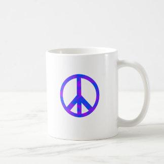 Blaues/lila abstraktes Friedenssymbol Teetassen