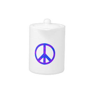 Blaues/lila abstraktes Friedenssymbol
