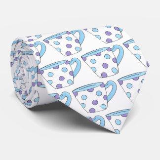 Blaues lila krawatte
