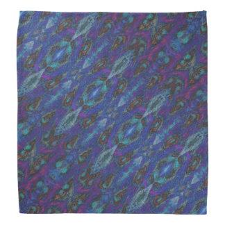 Blaues lila Muster Kopftuch