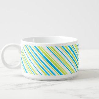 Blaues Limones Grün stripes Chilischüssel Kleine Suppentasse