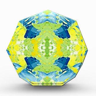 Blaues Limones grünes modernes künstlerisches Auszeichnung