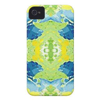 Blaues Limones grünes modernes künstlerisches iPhone 4 Hülle