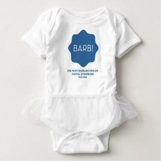 Blaues Logo Baby Strampler