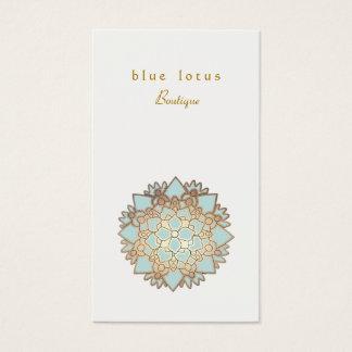 Blaues Lotus-Logoholistische Gesundheit und Visitenkarte
