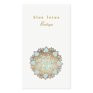 Blaues Lotus-Logoholistische Gesundheit und Visitenkarten