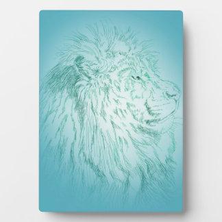 Blaues Löwe ~ 12x18 Fotoplatte