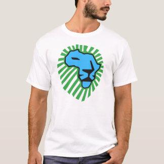 Blaues Löwe-Grün-Mähne Waka Waka Shirt