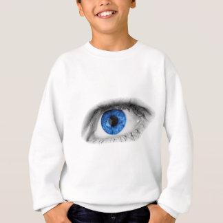 Blaues Mädchen-Auge Sweatshirt