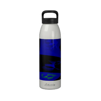 Blaues Magma Wiederverwendbare Wasserflaschen