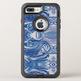 Blaues marbl Apple iPhone 8 Plus/7 plus den Fall, OtterBox Defender iPhone 8 Plus/7 Plus Hülle