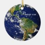 Blaues Marble_Peace auf Earth_Goodwill zu allen Weihnachtsbaum Ornamente
