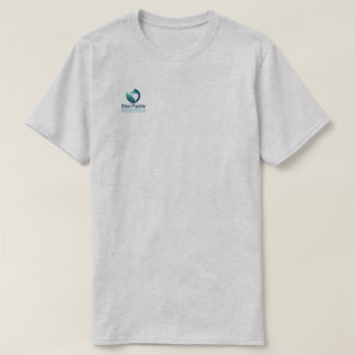 Blaues MarmorGeo T-Shirt
