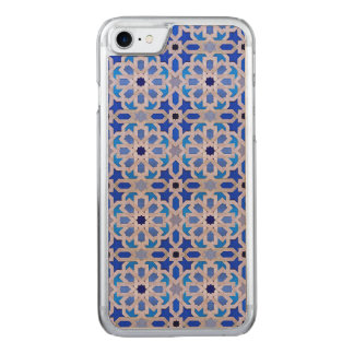 Blaues marokkanisches geometrisches Muster Carved iPhone 8/7 Hülle