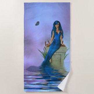 Blaues Meerjungfrau-Badetuch Strandtuch