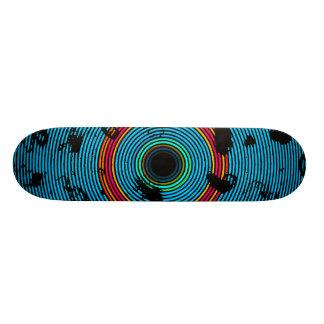 Blaues MehrfarbenvinylDisc-Beschaffenheits-Muster Individuelle Skatedecks