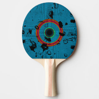 Blaues MehrfarbenvinylDisc-Beschaffenheits-Muster Tischtennis Schläger