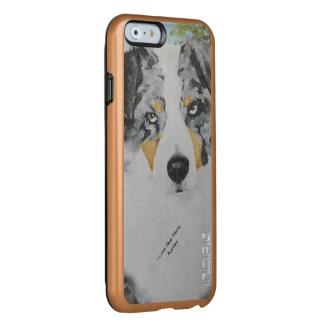 Blaues Merle australisches Schäfer-Hundeporträt Incipio Feather® Shine iPhone 6 Hülle