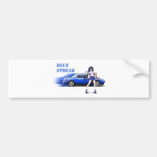Blaues Miata - mit Animemädchen Autoaufkleber