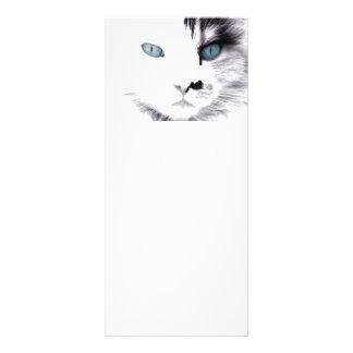 Blaues mit Augen Katzen-Lesezeichen Werbekarte