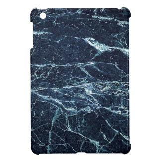 Blaues modernes Marmormuster iPad Mini Hülle