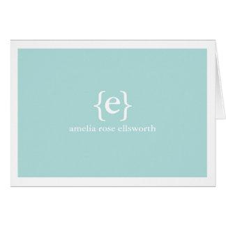 Blaues Monogramm persönlich/Geschäft Notecards Karte