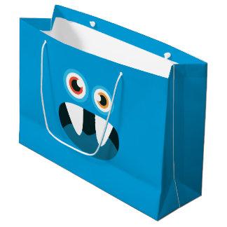 Blaues Monster Große Geschenktüte