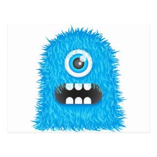 Blaues Monster Postkarte