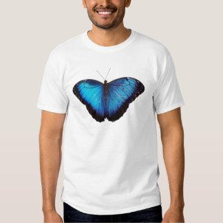 Blaues Morpho Butterflie Hemden