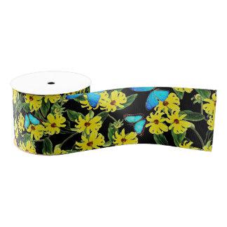 Blaues Morpho Schmetterling Coneflower Blumen-Band Ripsband