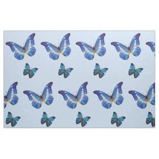 Blaues Morpho Schmetterlings-Gewebe Stoff