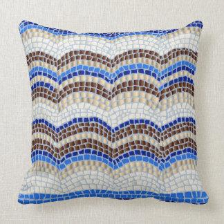 """Blaues Mosaik-BaumwollWurfs-Kissen 20"""" x 20"""" Kissen"""
