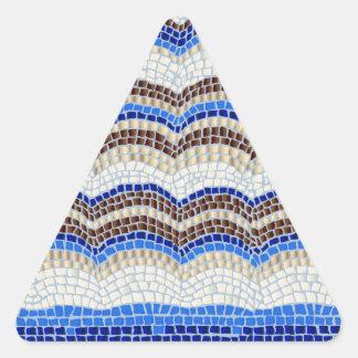 Blaues Mosaik-glatter Dreieck-Aufkleber Dreieckiger Aufkleber