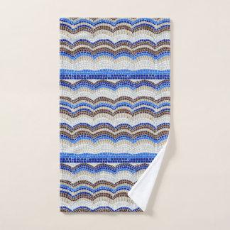 Blaues Mosaik-Handtuch Handtuch