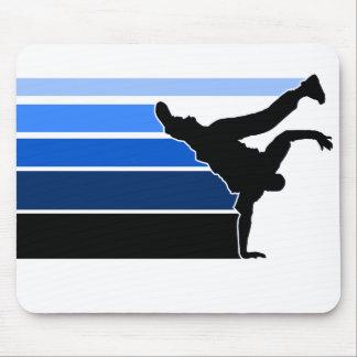Blaues mousepad Schwarzes BBOY Steigung