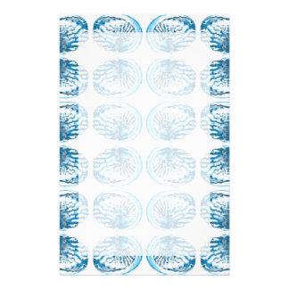 Blaues Muschel-Muster Büropapiere