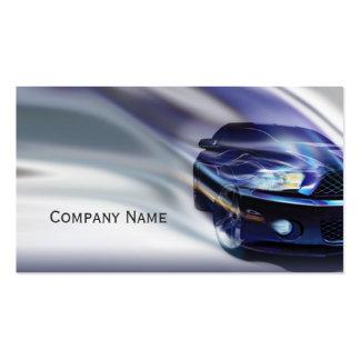 Blaues Mustang-Auto in der Visitenkarten