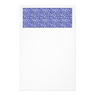Blaues Muster Personalisierte Büropapiere