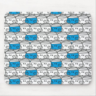 Blaues Muster Herr-Bump | Mauspad