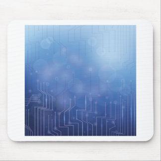 blaues Muster Mousepad