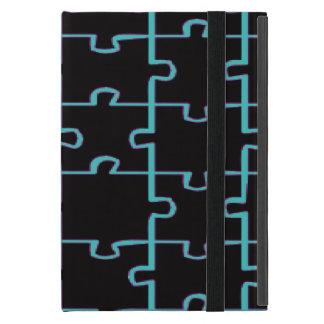 Blaues Neonpuzzlespiel iPad Mini Hüllen