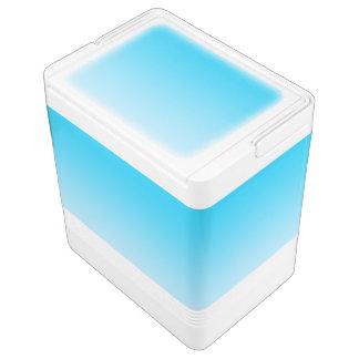 Blaues Ombre Kühlbox