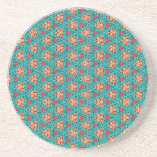 blaues orange Muster Sandstein Untersetzer