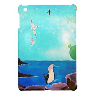 Blaues Ozean-Fliegen-Vogel-Malen iPad Mini Hülle