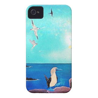 Blaues Ozean-Fliegen-Vogel-Malen iPhone 4 Etuis